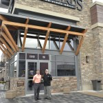 Firebirds General Manager Joe Ortega and Executive Chef Erick Kronquist outside the new restaurant at Stonebridge.  Photo by Tamar Wilsher-Rivas