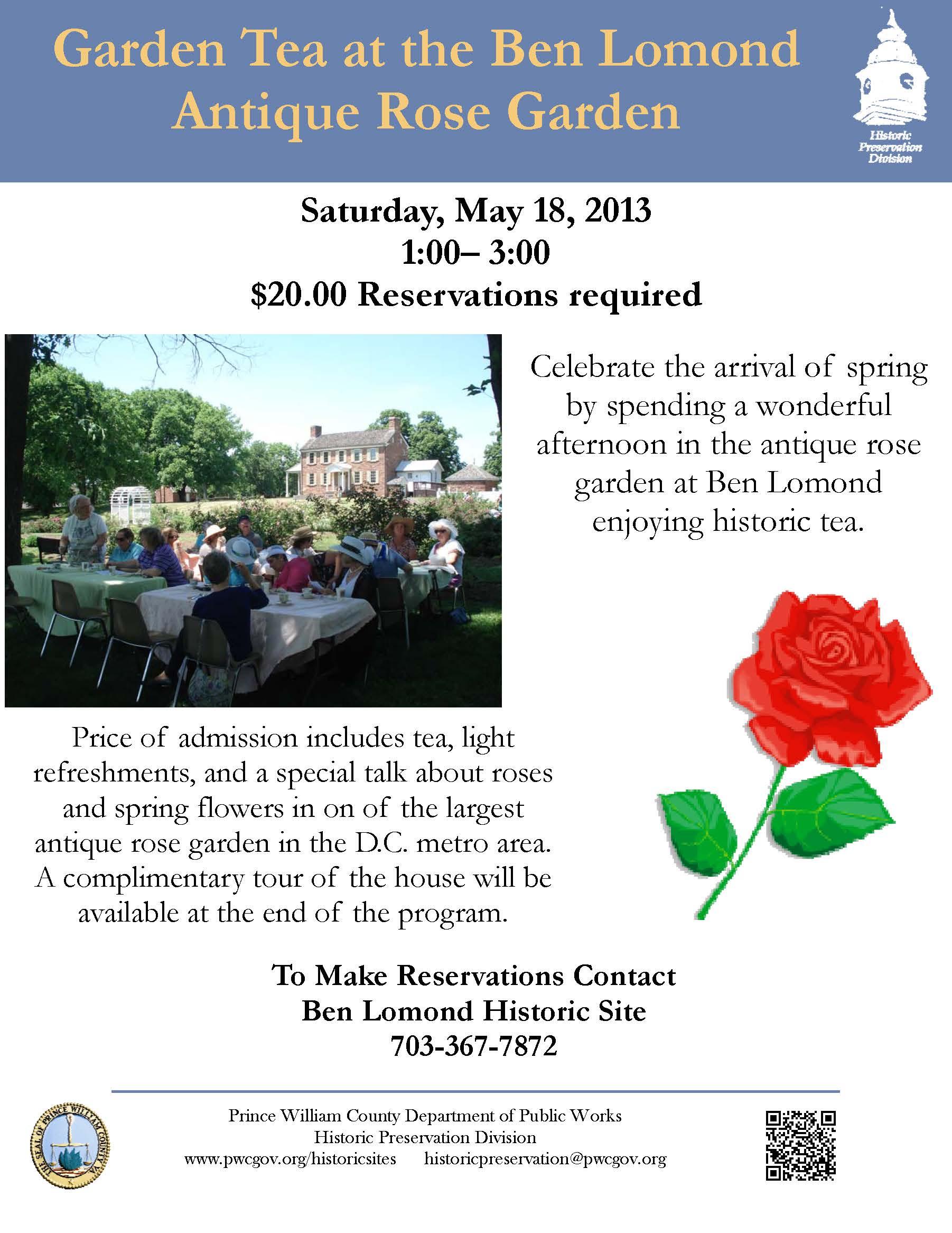 Garden tea flyer 5.18.13