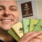 """Potomac Chocolate owner Ben Rasmussen makes five types of artisan chocolate bars. The """"Upala 70%"""" bar garnered a silver award at the 2011 Academy of Chocolate Awards and was a 2011 Good Food Awards finalist."""