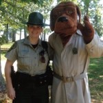 McGruff the Crime Dog - takes a bite out of Crime.   Photo Courtesy Prince William Crime Prevention Council.