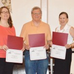 From left, writers Cindy Brookshire and R.P. Barr of Manassas and Carol L. Covin of Bristow will represent Prince William with their entries in the Virginia Writers Club's statewide Golden Nib Contest.