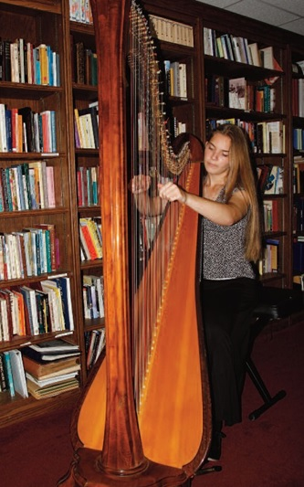 Cambria Van de Vaarst, 17, of Woodbridge, plays several musical instruments, including the concert harp, celtic harp, viola and organ.  She is also a gifted soprano.