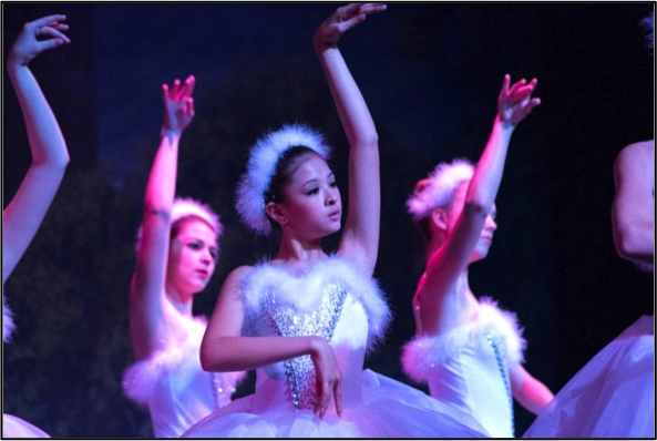 Gainesville Ballet Swan Lake, Act II in May 2013 Isabella Reilly (center)