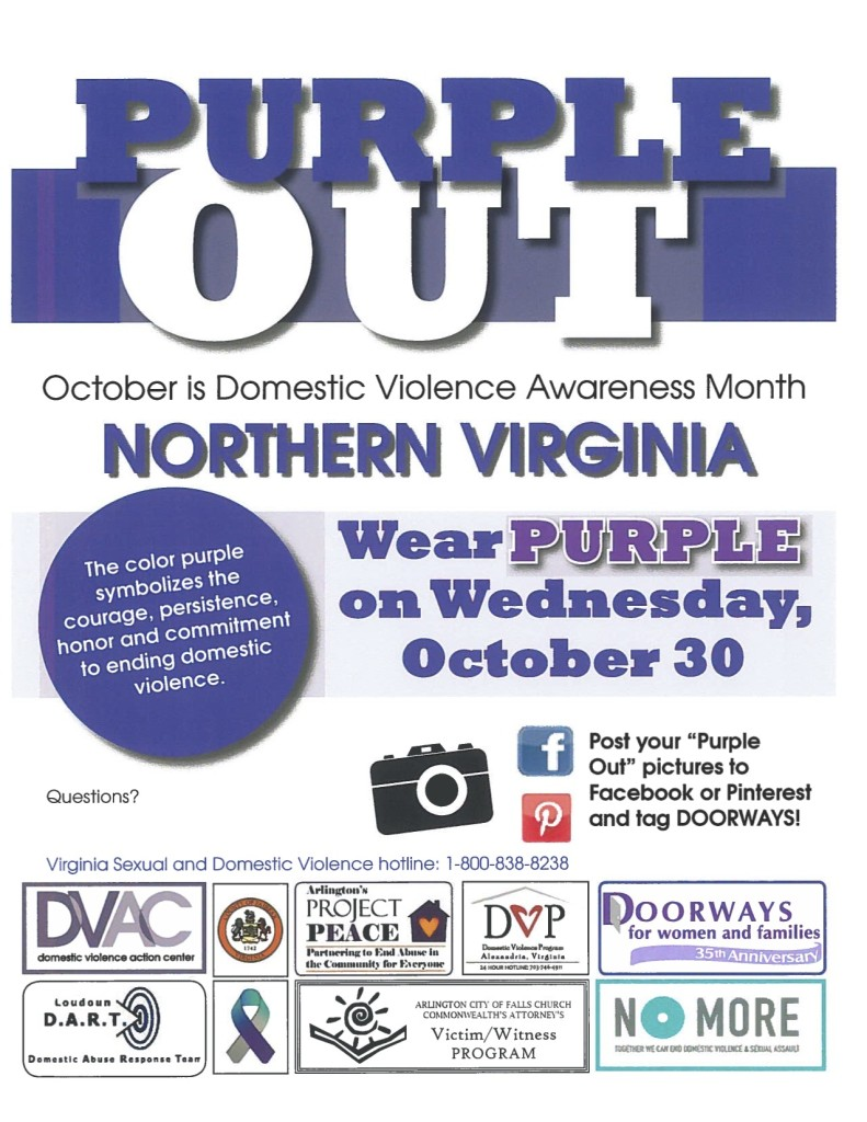 DV Awareness Month - Purple Out NoVA
