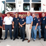 Del. Anderson and Firefighters