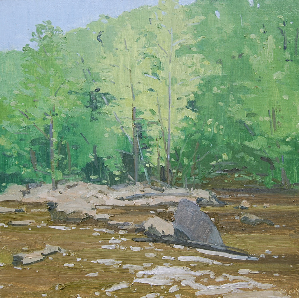 """""""Muddy Water in Spring"""", by Fredrick Markham, Oil on Canvas, 24 x 24."""