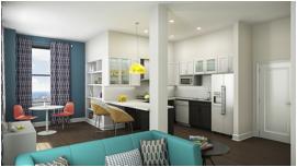 Rendering of new apartment unit