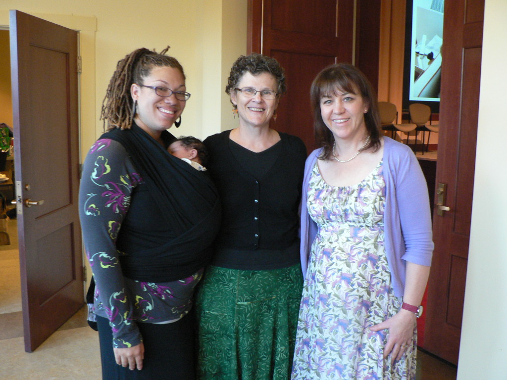 From left, doula Sharon Hamon-Boomer, certified nurse midwife and award honoree Kathleen McClelland and doula Marilyn Alger. Boomer and Alger lead the Prince William Chapter of Birth Matters Virginia.
