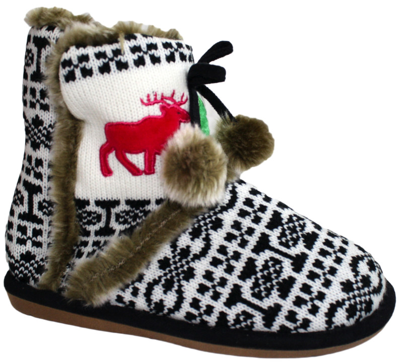 Holiday Reindeer Antique Boot