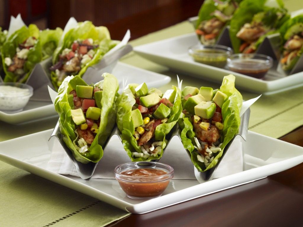 """Lettuce Wrap Tacos"" are one of the more than 200 innovative dishes available to diners at The Cheesecake Factory at Potomac Mills."