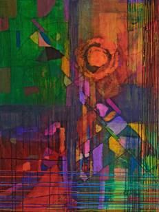 """Oasis, Mary Ellen Mogee, 2013, acrylic on canvas, 12""""x12"""""""