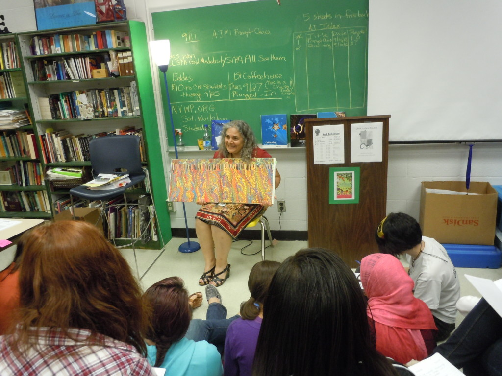 Woodbridge Senior High School English and creative writing teacher Cathy Hailey sparks creativity in her CFPA students.