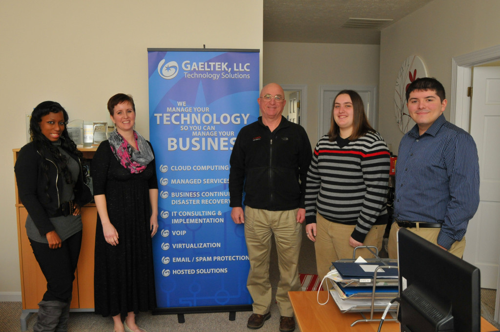Co-owner and Gaeltek, LLC, President Amanda Harper with David Duff, a senior systems engineer at the IT company that Harper and her husband, CEO Andrew Harper, founded to meet the needs of small business.