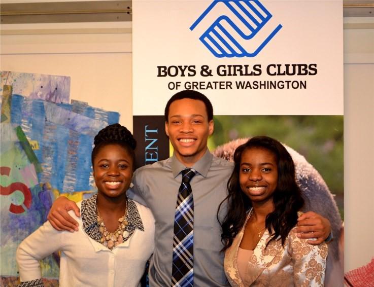 l) Michaela Obro-Ababio, YOY Ambassador (Germantown, MD), (c)- Zaki Scott, 2014 YOY (Manassas, VA) (r) Teja Washington, YOY Ambassador (Woodbridge, VA)