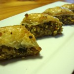 My version of baklava includes orange or lemon zest, which is supposed to be a more common flavor profile in Israel. Photo Credit: Jason Shriner.