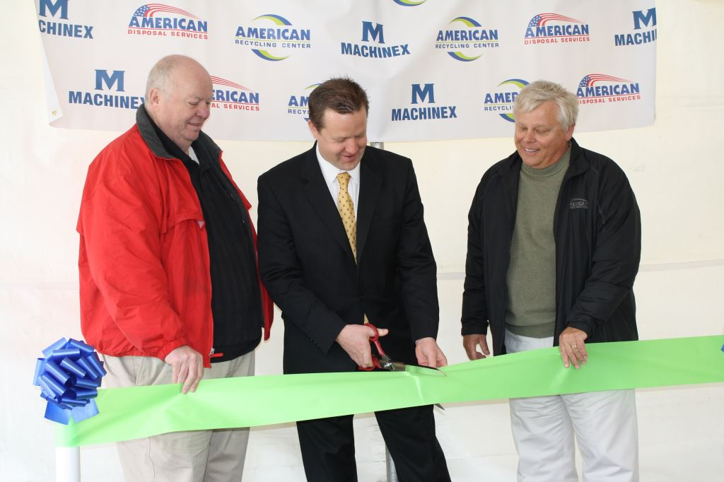 Ribbon Cutting for American Recycling Center 150