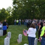 America Rising Filming with motorcylists at Quantico National Cemetery