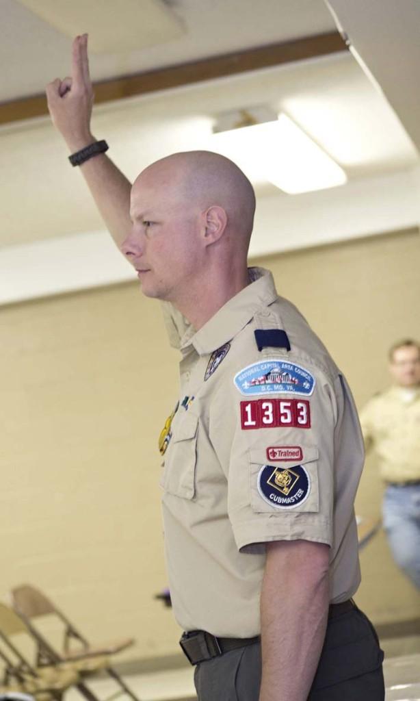 Cub Scouts Pack 1353 Cub Master Tim Boegler, of Woodbridge.