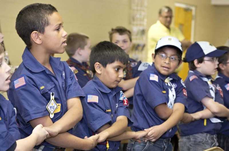 Cub Scouts Pack 1353 meets monthly at Lake Ridge Baptist Church. The Cub Scouts are divided into four age-based levels: Tiger Cubs and Wolf, Bear (pictured here) and Webelos Scouts.