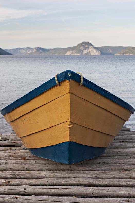 Hannele Lahti shot this photo of a yellow dory at the Bay of Islands in western Newfoundland in 2012 while she was on an artist residency at Full Tilt Creative Centre. It won her runner-up in professional photography in Creative Quarterly magazine's 32nd issue competition.