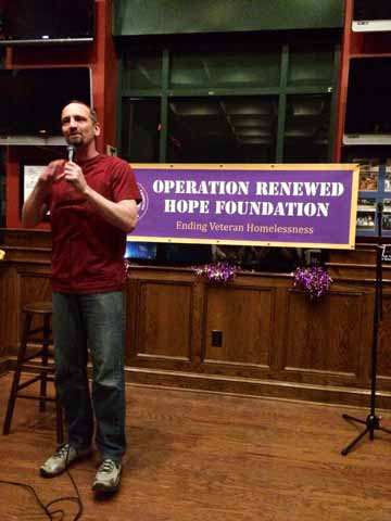 """Local comedian Jim Pate participated in April in a comedy charity fundraiser. """"If I can use my dumb stories to raise money for somebody, 'Rock on!'"""" he said."""