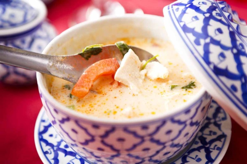 Coconut Lemongrass, which is one of five soups on Siam Classic's menu, is a hot and sour lemongrass soup with seasonal vegetables and a splash of coconut milk.