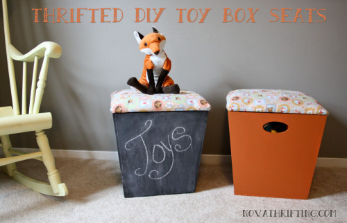 Thrifted DIY Toy Box Seats