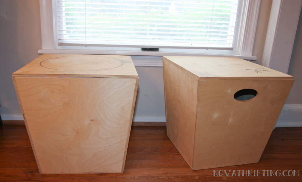 Thrifted DIY Toy Box Seats Before