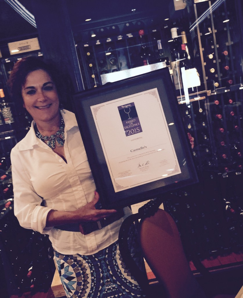 Carmello's Wins Wine Spectator Magazine's 2015 Award Of