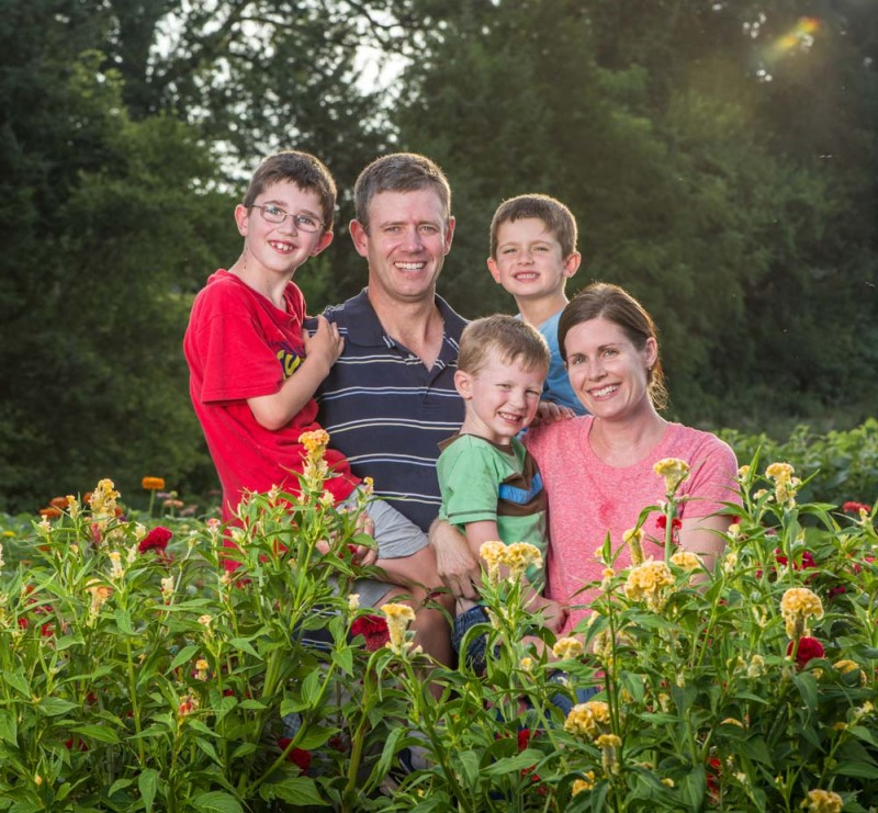 The Desmedt family of the Bloom Flower Farm in Nokesville.