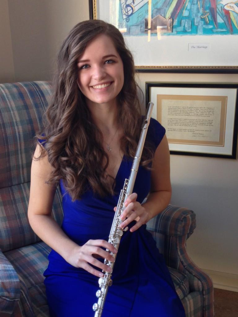 Katherine Grischow, winner of the Woodbridge Flute Choir scholarship