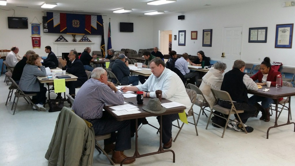 "Volunteers from the Prince William County Bar Association assist Veterans with the preparation of Wills, Power of Attorney documents, and Advanced Medical Directives in the ""Wills for Veterans Project""."