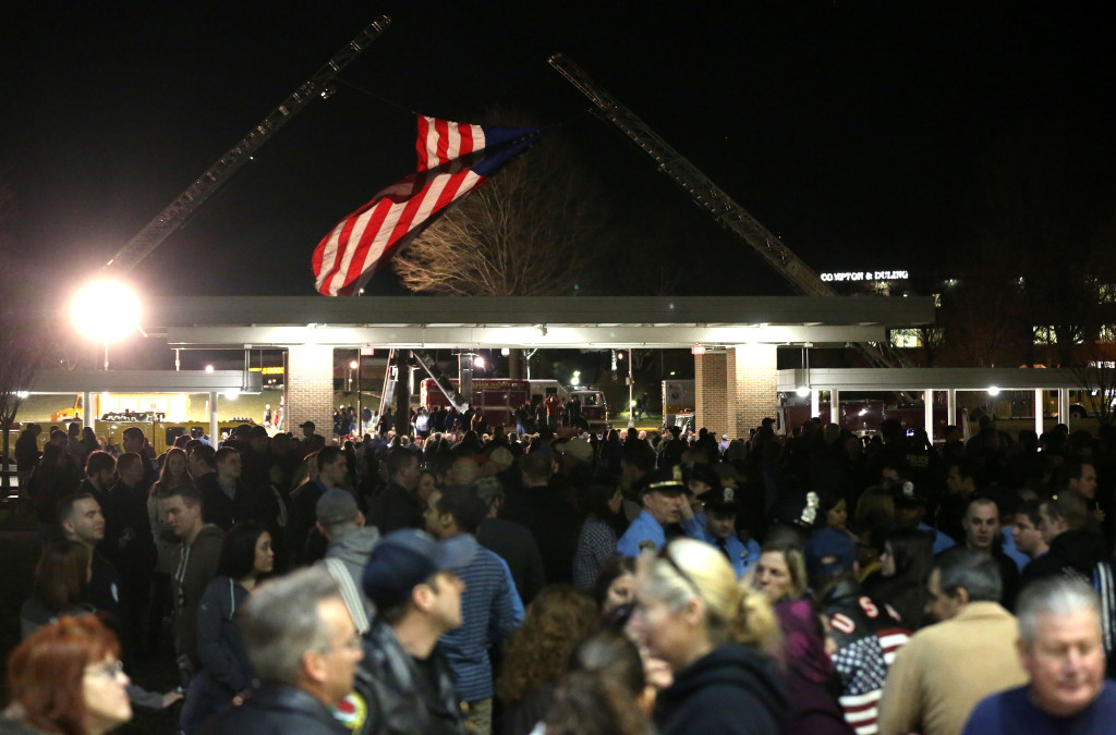 The community comes together at the vigil for Officer Ashley Guindon on Feb. 28, 2016