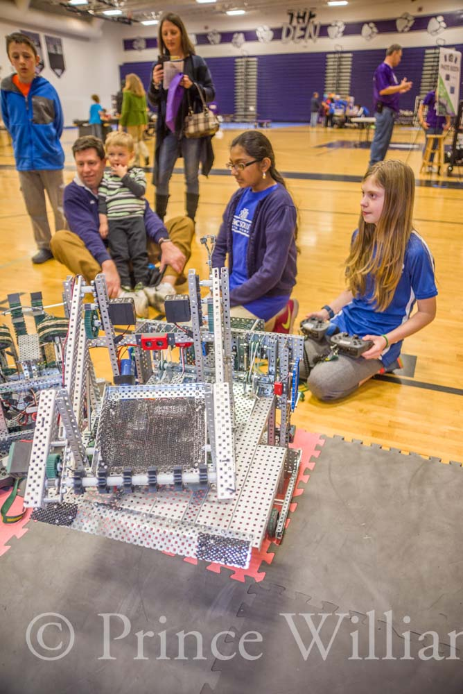 Hands-on demonstrations with robotics allows spectators to learn more.