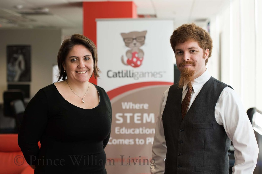 -R: Catherine Swanwick and Jon Nardolilli, co-owners and creators of Catlilli Games.