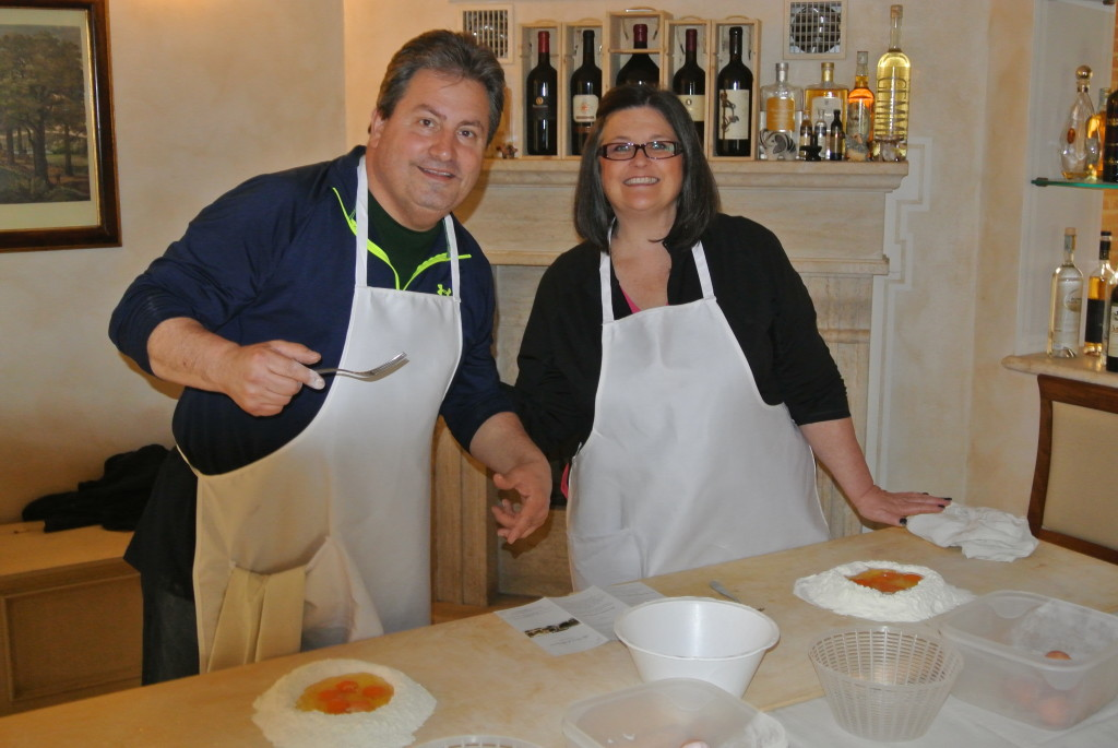 George and Linda Meyers, of Haymarket, Va., owners of Cook in Tuscany (Photo courtesy of Cook in Tuscany)