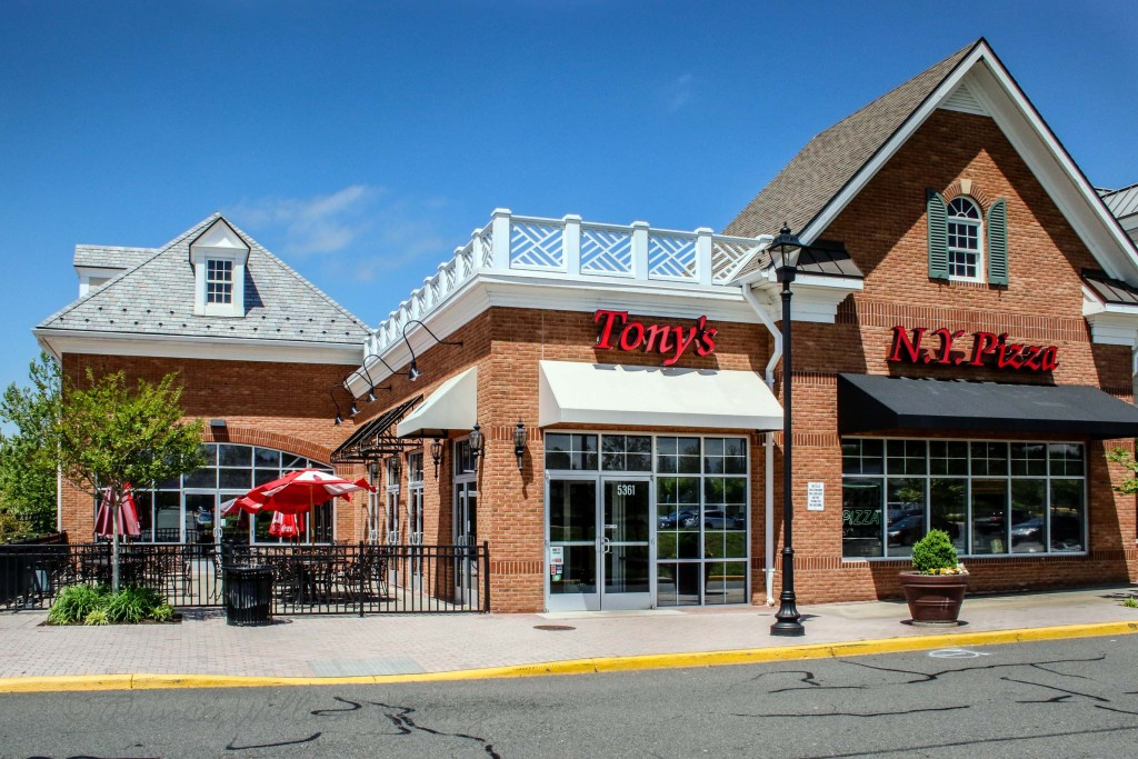 Tony's New York Pizza has three locations in Prince William: Manassas City, Bristow and Dominion Valley, pictured here