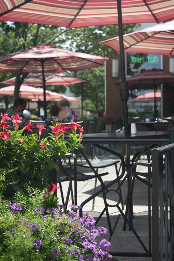 Outdoor dining on the patio is a great way to enjoy the delicious food Grafton Street has to offer.