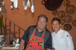 Cook in Mexico co-owner George Meyers with Mexican chef, Paco.