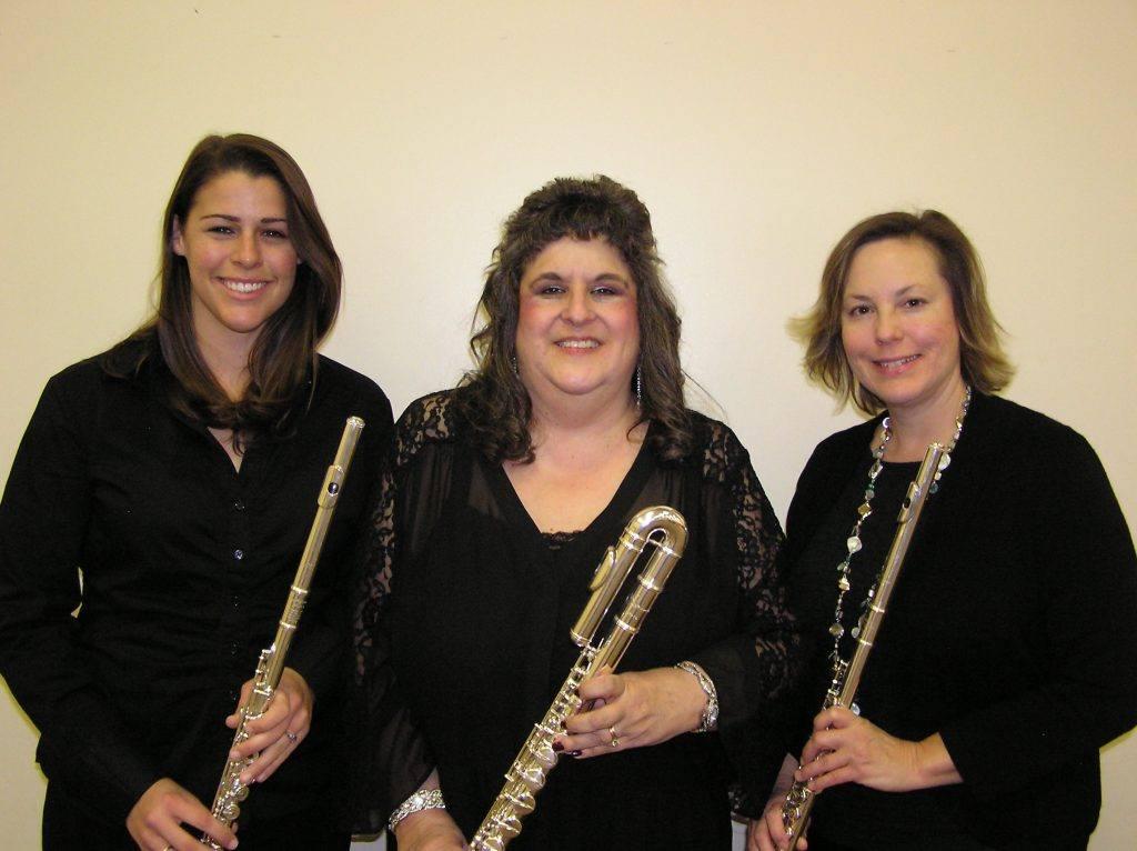 Woodbridge Flute Choir soloists Stephanie Hurst, Margo Kujat and Julie McDonald