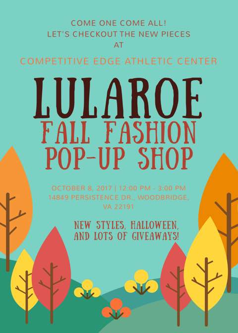 fall is in the air and it s time to freshen up your wardrobe for the new season come shop with us at this lularoe pop up shop where our retailers will be