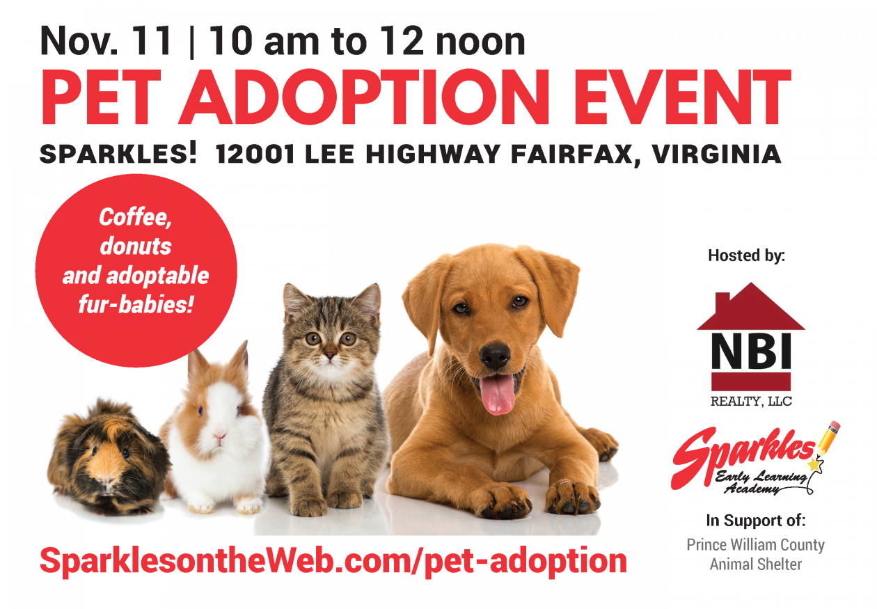 Pet Adoption event for PWC Animal Shelter