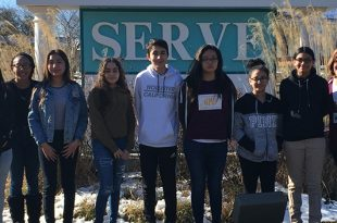 Stonewall Middle School students at SERVE