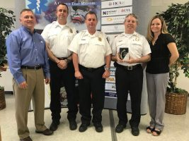 Fire & Rescue Department personnel accepting 2018 Outstanding EMS Agency Award