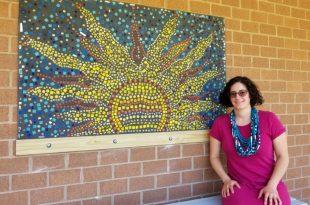 Buckland Mills Elementary School sensory mosaic mural
