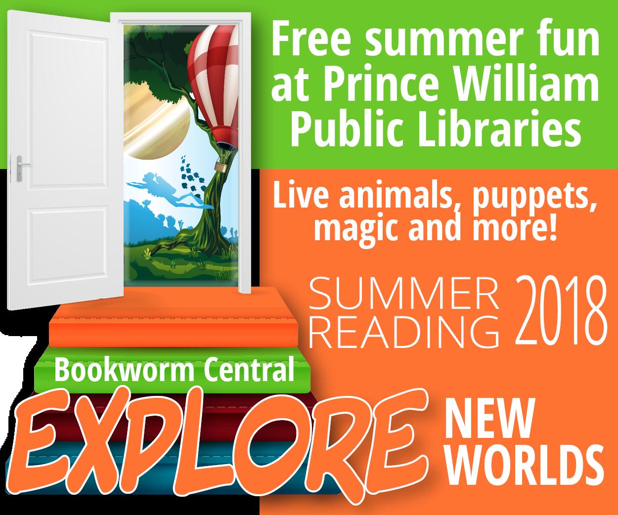 2018 Summer reading program, PWPLS, Explore New Worlds