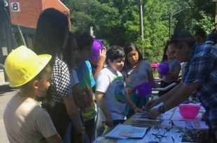 Featherstone Elementary education event by Public Works Division