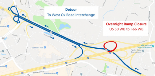 I-66 ramp closures 7-26-18