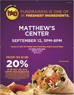 matthews center fundraiser ad