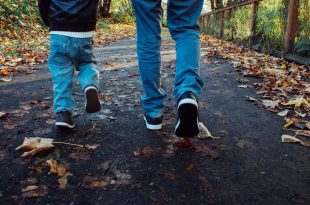 leaves people walking family fun 1018